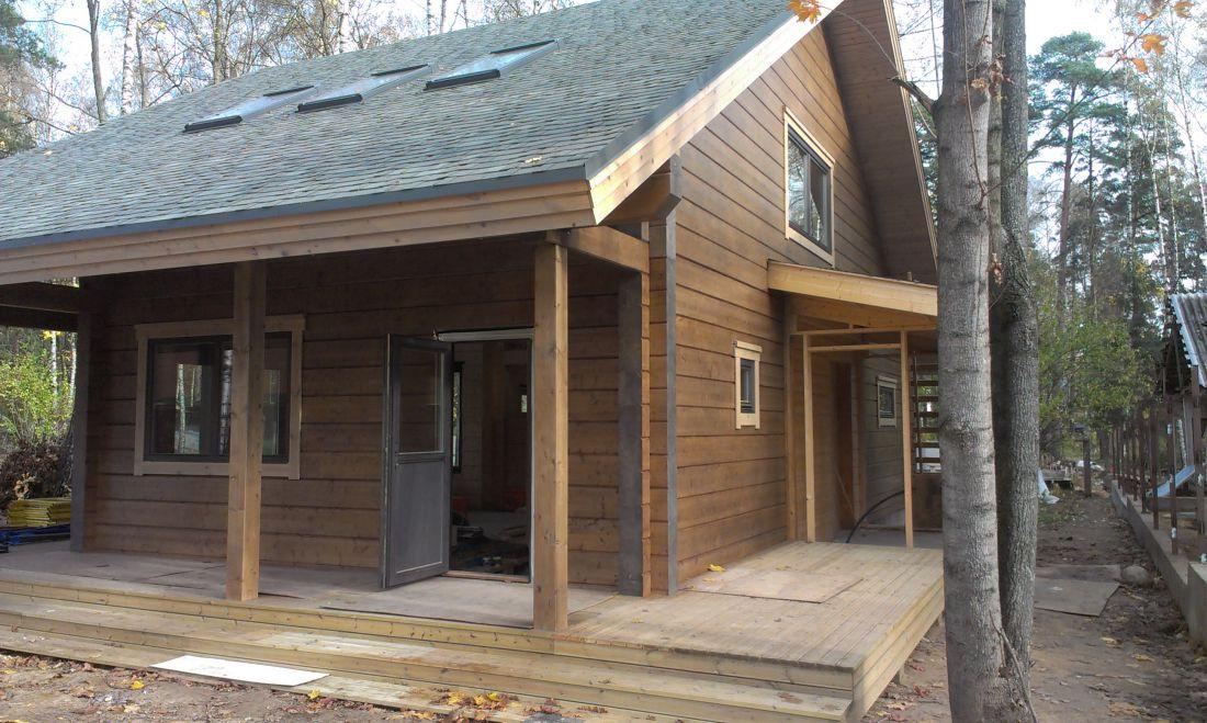 Дизайн фасадов деревянных домов