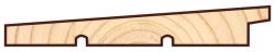 Скандинавская фасадная доска Профиль UYL