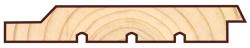 Скандинавская фасадная доска Профиль UYV