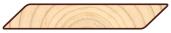 Скандинавская фасадная доска Профиль Косой планкен