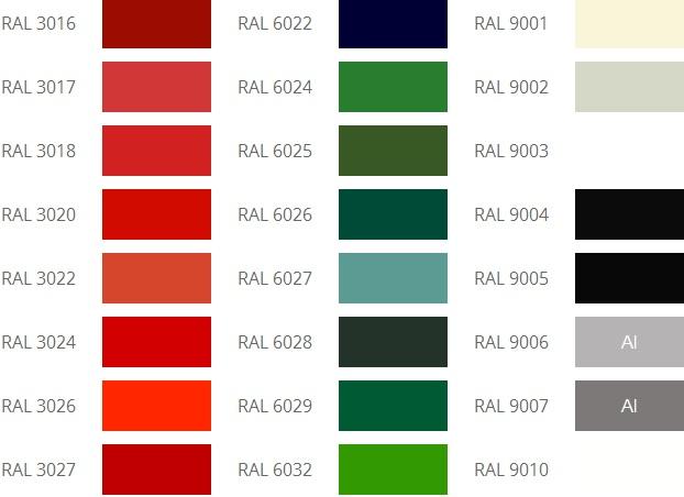 Укрывной цвет, оттенок RAL